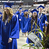 Graduate Kennedy Jean Cartwright makes her way to the stage to accept her diploma during commencement at Sears Centre in Hoffman Estates, IL on Sunday, May 26, 2013 (Sean King for Shaw Media)