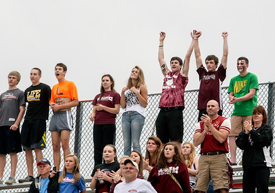 Sarah Nader - snader@shawmedia.com Fans cheer after Prairie Ridge won Tuesday's IHSA Class 2A Barrington Supersectional against Lake Forest in Barrington May 28, 2013. Prairie Ridge won, 1-0.