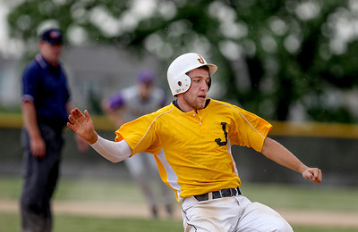 Sarah Nader - snader@shawmedia.com Jacobs' Ben Murray slides safely to third during the fifth inning of Thursday's IHSA Class 4A Baseball Sectional Tournament against Hononegah in Huntley on May 31, 2013. Jacobs' defeated Hononegah, 3-2.