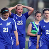 Jeff Krage – For Shaw Media<br /> St. Charles North's Sophie Pohl (#22) shows her disappointment after losing Wednesday's IHSA class 3A super-sectional 3-1 to Barrington at Barrington High School.<br /> Barrington 5/29/13