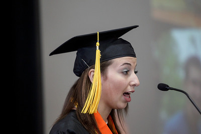 Sarah Nader - snader@shawmedia.com Valedictorian Ann Bandolik gives her speech during the 2013 Crystal Lake Central High School commencement on Saturday, May 25, 2013.