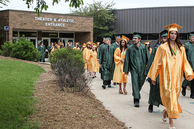 Sarah Nader - snader@shawmedia.com Graduates walk to their seats during the 2013 Crystal Lake South High School commencement on Saturday, May 25, 2013. 457 students graduated during the ceremony.