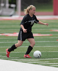 H. Rick Bamman - hbamman@shawmedia.com Prairie Ridge's  Becca Hoklas in the Class 2A State Soccer semifinal match Friday, May 31, 2013.