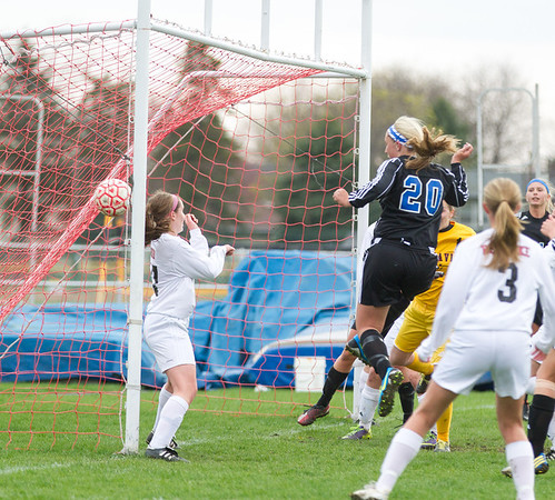 Geneva's Taylor Williams (20) scores a goal against Batavia at Batavia High School in Batavia, IL on Tuesday, April 29, 2014 (Sean King for Shaw Media)
