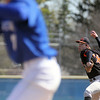 Jeff Krage – For Shaw Media<br /> St. Charles East's Michael Boehmer pitches to Geneva's Garrett Davis in game one of Saturday's doubleheader against at Geneva. The Saints lost 3-2.<br /> Geneva 5/3/14