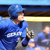 Jeff Krage – For Shaw Media<br /> Geneva's Nick Derr lead off the 6th inning of game one of Saturday's doubleheader against visiting St. Charles East with a double and eventally scored the winning run. The Vikings won 3-2.<br /> Geneva 5/3/14
