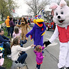 Jeff Krage – For Shaw Media<br /> Mascots from Funway Ultimate Entertainment Center in Batavia greet parade-goers on Wilson Street during Sunday's Loyalty Day Parade in Batavia.<br /> Batavia 5/4/14