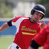 Jeff Krage – For Shaw Media<br /> Batavia's Micah Coffey rounds third base in the third inning of game one during Saturday's doubleheader against at Geneva.<br /> Geneva 5/10/14
