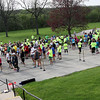 Jeff Krage – For Shaw Media<br /> Runners and walkers gather near the start line of the third annual Hope for Haitians 5K Walk/Run on Saturday at the Kane County Government Center.<br /> Geneva 5/10/14