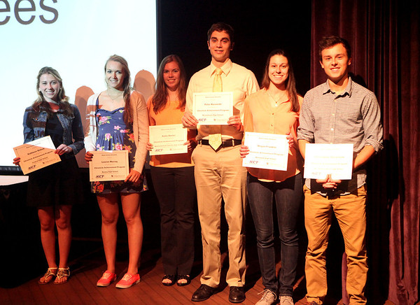 Chronicle Achievement Program award winners for the month of February were honored during a ceremony Wednesday at the Fox Valley Repertory in St. Charles. The CAP awards are sponsored by the Kane County Chronicle and KCT Credit Union.