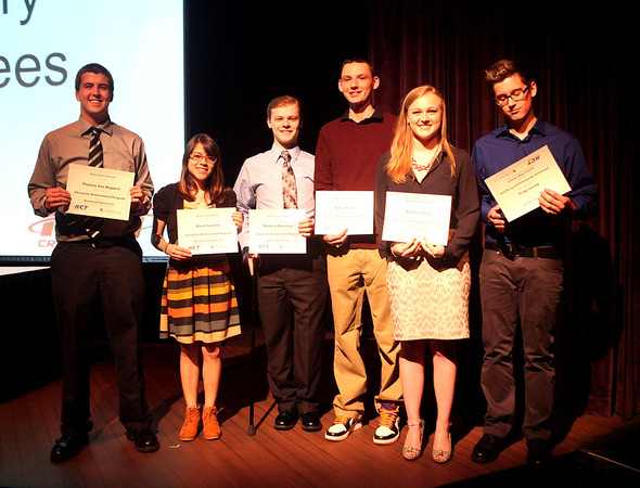 Chronicle Achievement Program award winners for the month of December were honored during a ceremony Wednesday at the Fox Valley Repertory in St. Charles. The CAP awards are sponsored by the Kane County Chronicle and KCT Credit Union.