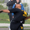 Glenbard North's Tasia Collins competes in Disc Throw during the Metea Valley Girls Track and Field Sectional<br /> at Metea Valley High School in Aurora, IL on Thursday, May 15, 2014 (Sean King for Shaw Media)