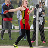 Batavia's Tice Jordan competes in Disc Throw during the Metea Valley Girls Track and Field Sectional at Metea Valley High School in Aurora, IL on Thursday, May 15, 2014 (Sean King for Shaw Media)
