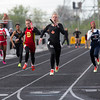 St. Charles East's Elizabeth Chmelik runs anchor in the 4x800 meter relay during the Metea Valley Girls Track and Field Sectional at Metea Valley High School in Aurora, IL on Thursday, May 15, 2014 (Sean King for Shaw Media)