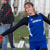 Geneva's Veronica Raymond competes in Disc Throw during the Metea Valley Girls Track and Field Sectional<br /> at Metea Valley High School in Aurora, IL on Thursday, May 15, 2014 (Sean King for Shaw Media)