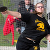 Glenbard North's Kathryn Milschewski competes in Disc Throw during the Metea Valley Girls Track and Field Sectional at Metea Valley High School in Aurora, IL on Thursday, May 15, 2014 (Sean King for Shaw Media)