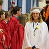 Geneva High School graduate Delaney Kate Johnston smiles after receiving her diploma during the school's commencement ceremony at Geneva High School in Geneva, IL on Sunday, May 25, 2014 (Sean King for Shaw Media)