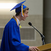 Geneva High School graduate Ryan Schneider speaks to the crowd during the school's commencement ceremony at Geneva High School in Geneva, IL on Sunday, May 25, 2014 (Sean King for Shaw Media)