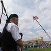 John Magill plays the bagpipes during the Healing Field Memorial Day Ceremony at Kaneland High School in Maple Park, IL on Monday,May 26, 2014 (Sean King for Shaw Media)