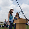 Kaneland High School Choir members Carissa Miller (left) and Kayla Hedgren (right) sing the National Anthem during the Healing Field Memorial Day Ceremony at Kaneland High School in Maple Park, IL on Monday,May 26, 2014 (Sean King for Shaw Media)