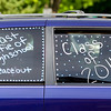 Geneva High School graduate Mikayla Ann Mereno (not pictured) took the time to decorate her family's SUV to celebrate graduation during the school's commencement ceremony at Geneva High School in Geneva, IL on Sunday, May 25, 2014 (Sean King for Shaw Media)