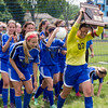Rosary's Lauren Frasca (00) celebrates with her team mates after defeating Kaneland in the Rosary Girls 2A Regional Final at Rosary High School in Aurora, IL on Saturday, May 24, 2014 (Sean King for Shaw Media)