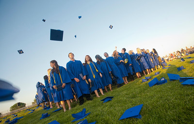 Michelle LaVigne/ For Shaw Media The graduating class of 2014 wait to be dismissed after the Johnsburg High School graduation ceremony in Johnsburg on May 30, 2104.