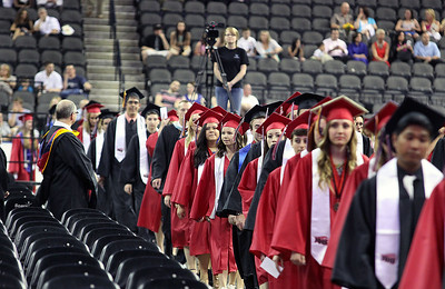 Jeff Krage – For Shaw Media The Huntley High School processional during Saturday's graduation ceremonies at the Sears Centre in Hoffman Estates. Hoffman Estates 5/31/14