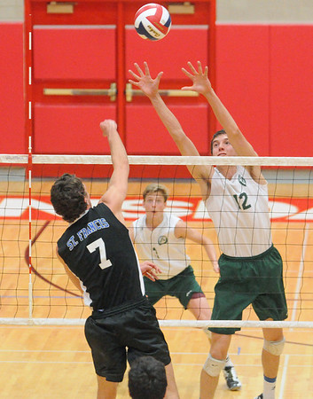 Glenbard West vs St Francis volleyball