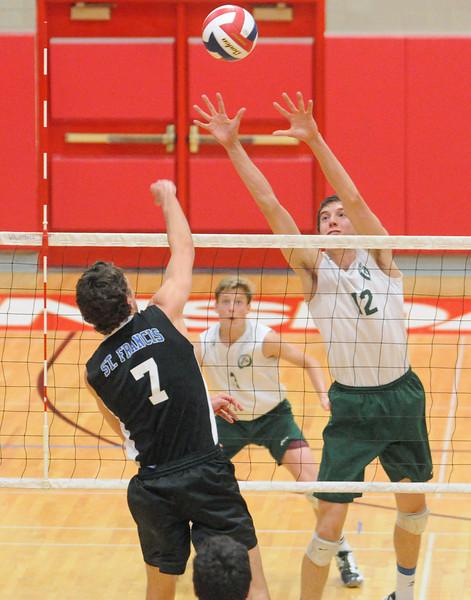 Glenbard West vs St Francis volleyball
