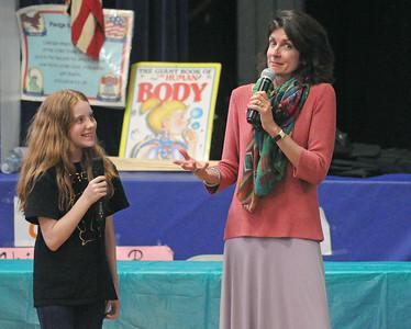 Author Blue Balliet at Brook Park School