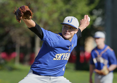 Pitcher Chris Krennrich (11) of Johnsburg throws during the first inning of their game against Richmond-Burton at Tigers Field on Monday, May 2, 2016 in Johnsburg, Illinois. The Rockets won the game 8-2.  John Konstantaras photo for the Northwest Herald