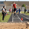 Batavia's Nick Stuttle competes in the long jump during the 3A sectional track and field meet at Metea Valley High School in Aurora May 19.