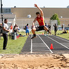 Batavia's Will Akers competes in the long jump during the 3A sectional track and field meet at Metea Valley High School in Aurora May 19.