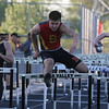 Batavia's Nick Stuttle competes in the 110 meter hurdles during the 3A sectional track and field meet at Metea Valley High School in Aurora May 19.
