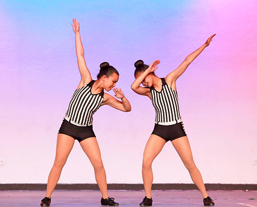 "Candace H. Johnson Sommer Ray, 16, of Mundelein and her sister, Ryann, 15, dance to ""Getcha Head in The Uptown Funk"" during the Mundelein's Got Talent dance recital presented by the Mundelein Park District at Mundelein High School."