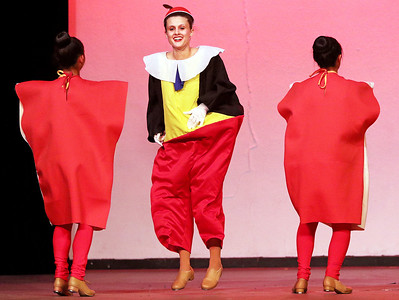 "Candace H. Johnson Ashley Adams, 18, of Mundelein (center) dances with the Advanced Dance Company to the song, ""Dum Diddley"" during the Mundelein's Got Talent dance recital presented by the Mundelein Park District at Mundelein High School."