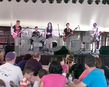 School of Rock members take the stage at Taste of Glen Ellyn Saturday. David Toney for Shaw Media