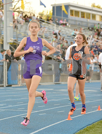 Schools including Downers Grove North, Glenbard West, York, Lyons Township, and Hinsdale Central competed in the West Suburban Silver girls track meet at Lyons Township's south campus