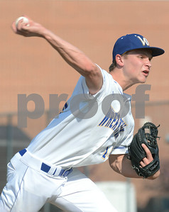 Wheaton North's Jackson Gray fires a pitch during their game against Nequa Valley Friday May 6 in Wheaton. Mark Busch - mbusch@shawmedia.com