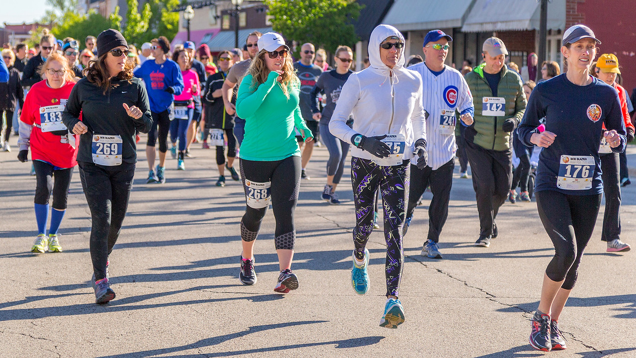 Ken Koontz – For Shaw Media  Participants at the start the Bob Blazier Run for the Arts 5K Run and Walk, Sunday, May 7 in Crystal Lake.The event is celebrated its 20th year.