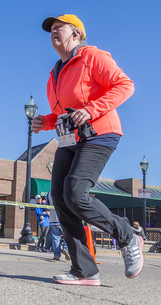 Ken Koontz – For Shaw Media Linda Dunal of Crystal Lake completes the 20th annual Bob Blazier Run for the Arts 5K Run/Walk, Sunday, May 7, 2017 in Crystal Lake.