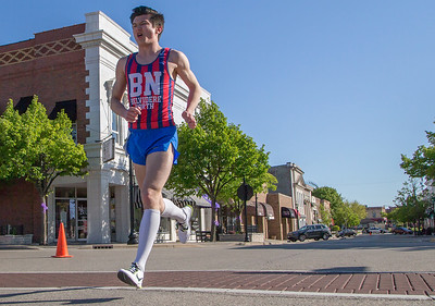 Ken Koontz – For Shaw Media  William Hennessy of Algonquin runs Sunday, May 7 in Bob Blazier Run for the Arts 5K Run and Walk in Crystal Lake. Hennessy had a first place finish with a time of 17:15.