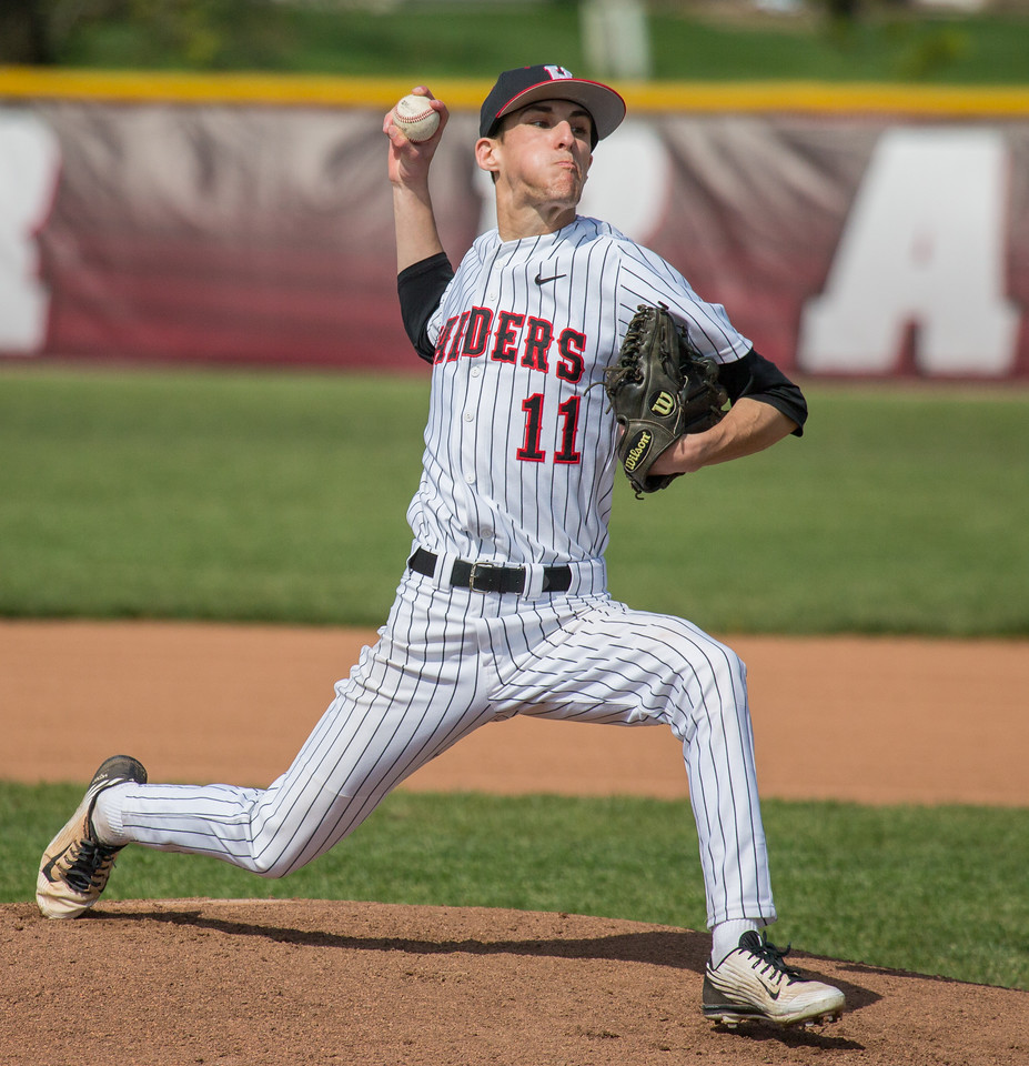 Huntley's Cameron Reed didn't allow a run in while pitching 7 innings against Crystal Lake South Saturday, May 13, 2017 at Huntley High School. Huntley wins in extra innings 2-1. KKoontz – for Shaw Media