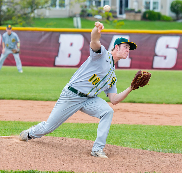 Crystal Lake South's Noah Tyrrell didn't allow a run in while pitching 6 2/3 innings against Huntley Saturday, May 13, 2017 at Huntley High School. Huntley wins in extra innings 2-1. KKoontz – for Shaw Media