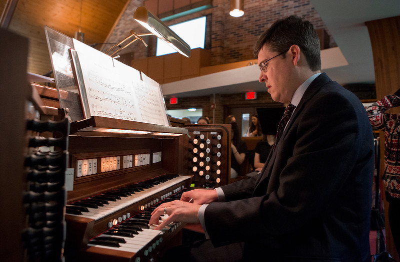 Mike Greene - For Shaw Media  Brian Crow plays the organ during graduation ceremonies for Faith Lutheran High School Saturday, May 20, 2017 at Prince-Peace Lutheran Church in Crystal Lake.