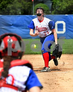 Glenbard South Daniella Little (24) pitches against Wheaton Acdemy May 27 in the Class 3A softball regional final at Glenbard South High School. David Toney for Shaw Media