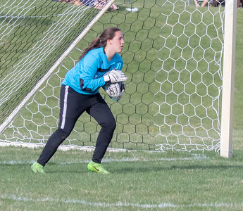 Priaire Ridge's goalie Lindsey Cepa makes a save in the second half against Jacobs Tuesday, May 1, 2018 in Prairie Grove. Prairie Ridge goes on to win 2-0. KKoontz- For Shaw Media