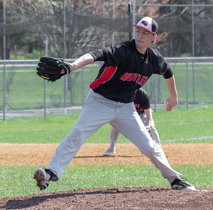 Huntley's Kyle Morgan took the mound against McHenry Saturday, May 5, 2018 in McHenry. McHenry went on to win the close game 2-1. KKoontz- For Shaw Media