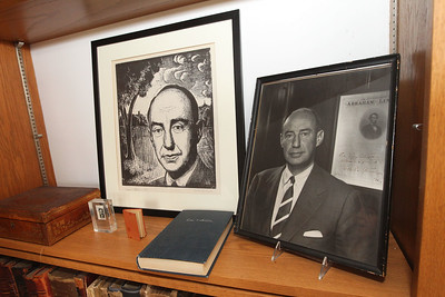 Candace H. Johnson-For Shaw Media Several of Adlai E. Stevenson's personal items were on display in the study at his historic home located in the Captain Daniel Wright Woods Forest Preserve in Mettawa. (5/3/18)